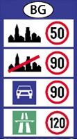 bulgária sebesség határok