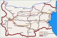 bulgária autó térkép